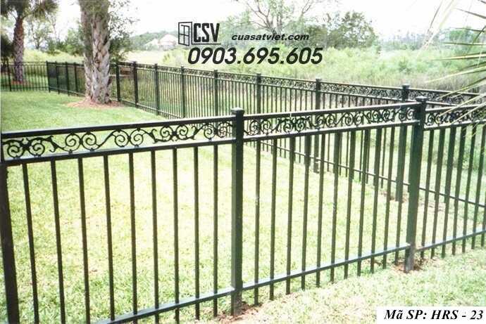 Mẫu hàng rào sắt đẹp HRS 23