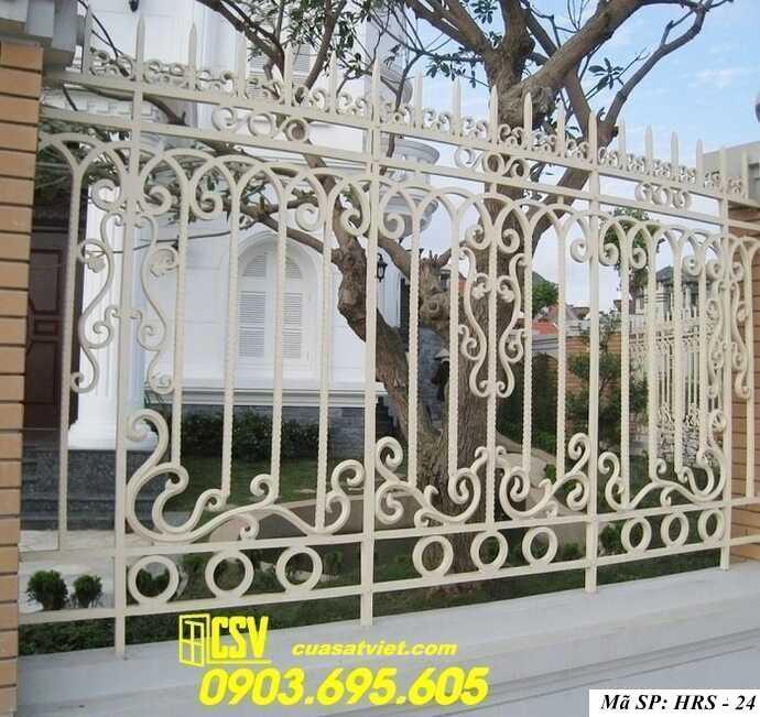Mẫu hàng rào sắt đẹp HRS 24
