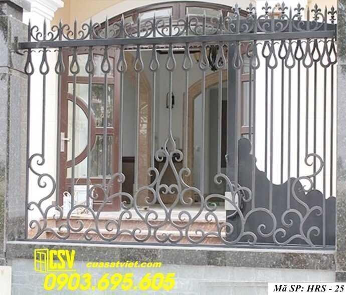 Mẫu hàng rào sắt đẹp HRS 25