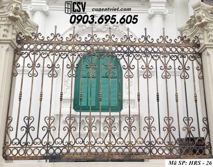 Mẫu hàng rào sắt đẹp HRS 26