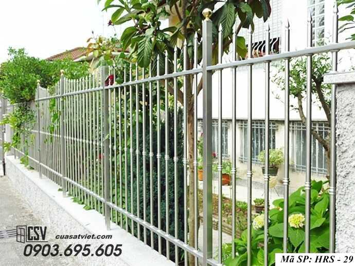Mẫu hàng rào sắt đẹp HRS 29