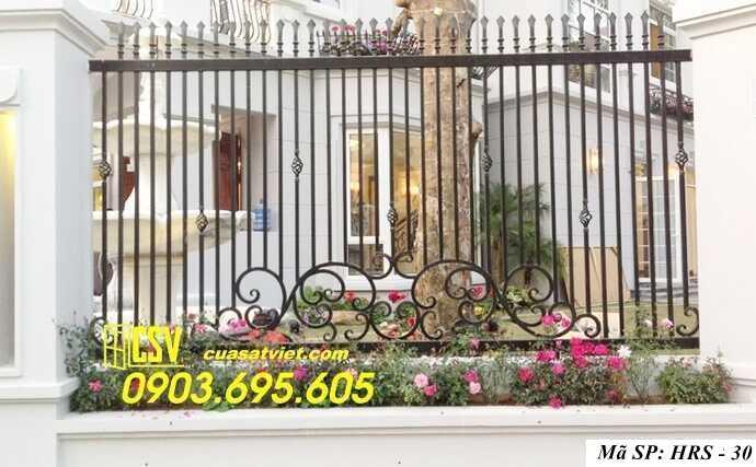 Mẫu hàng rào sắt đẹp HRS 30