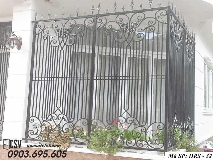 Mẫu hàng rào sắt đẹp HRS 32