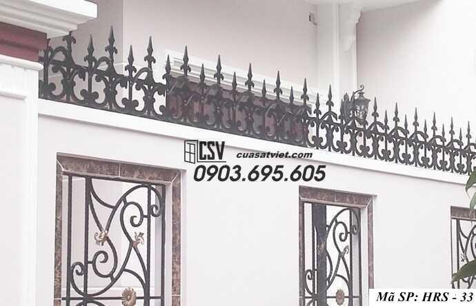 Mẫu hàng rào sắt đẹp HRS 33