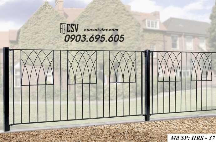 Mẫu hàng rào sắt đẹp HRS 37