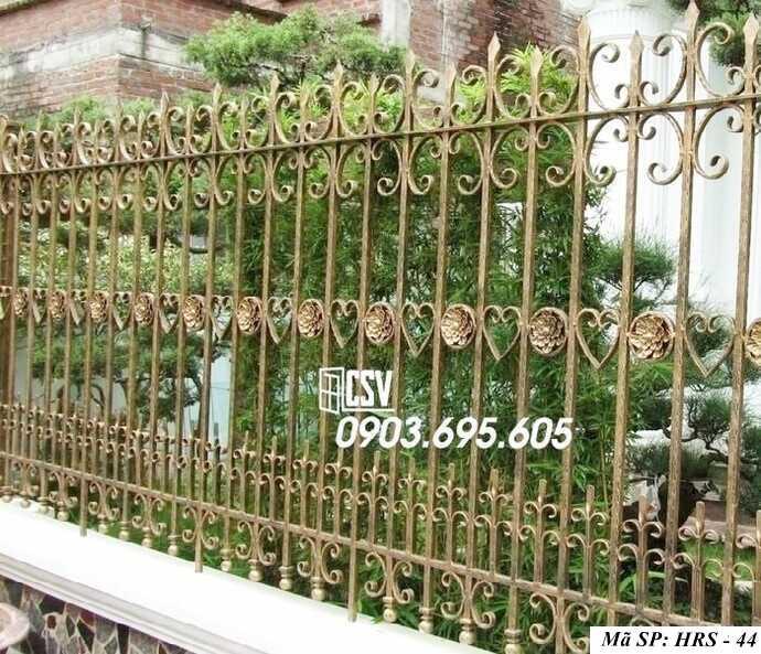 Mẫu hàng rào sắt đẹp HRS 44