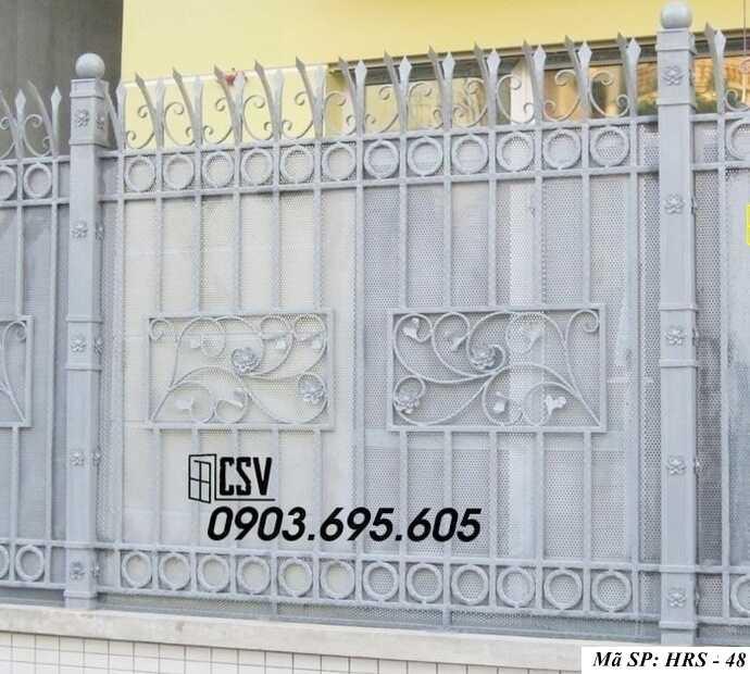 Mẫu hàng rào sắt đẹp HRS 48