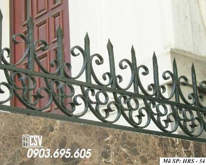 Mẫu hàng rào sắt đẹp HRS 54