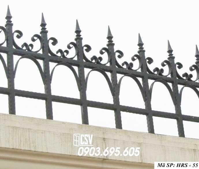 Mẫu hàng rào sắt đẹp HRS 55