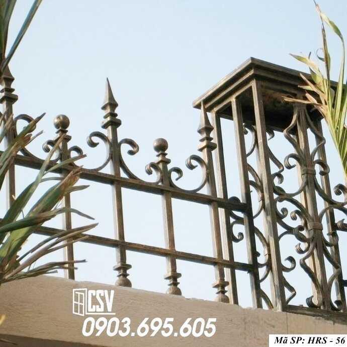 Mẫu hàng rào sắt đẹp HRS 56