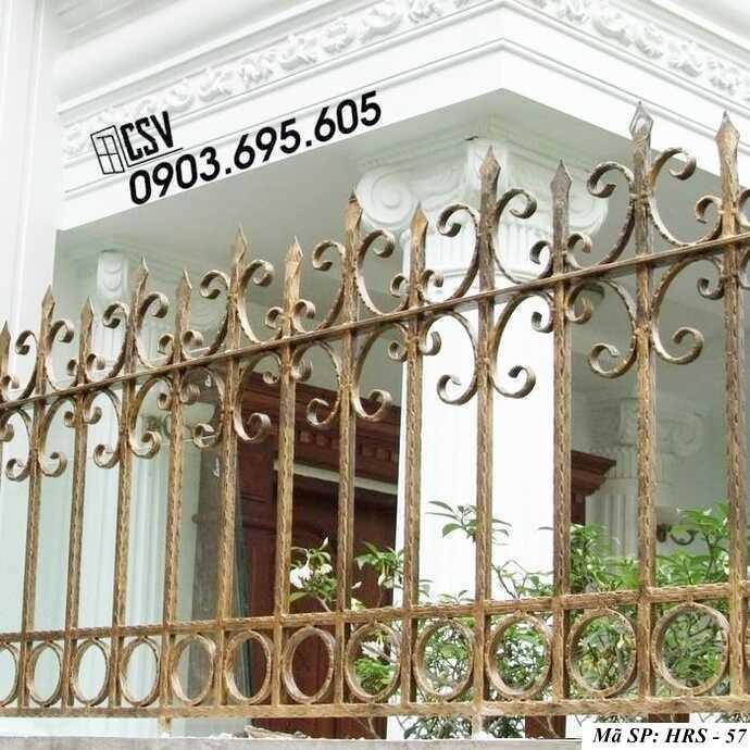 Mẫu hàng rào sắt đẹp HRS 57