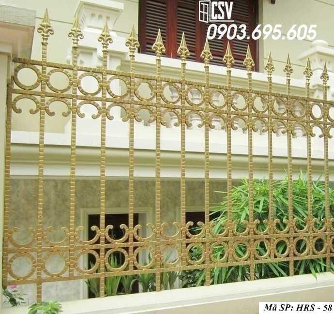 Mẫu hàng rào sắt đẹp HRS 58