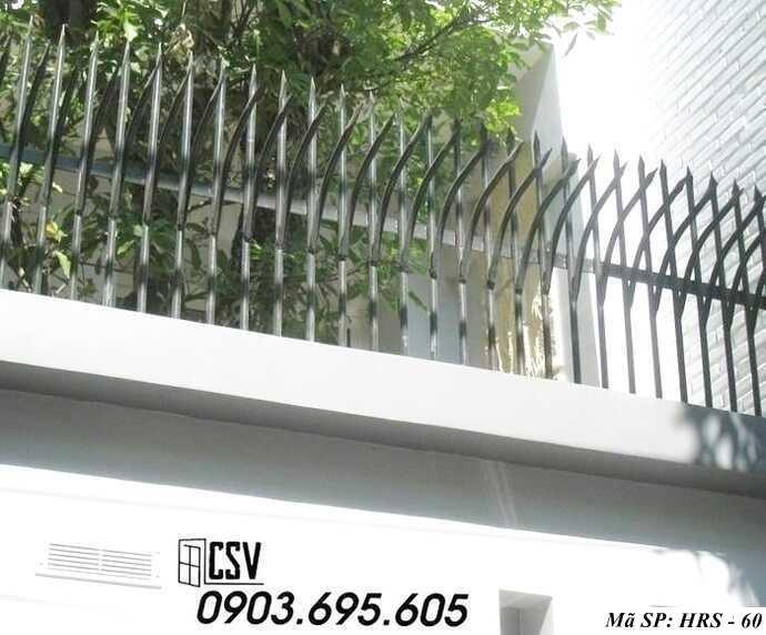 Mẫu hàng rào sắt đẹp HRS 60