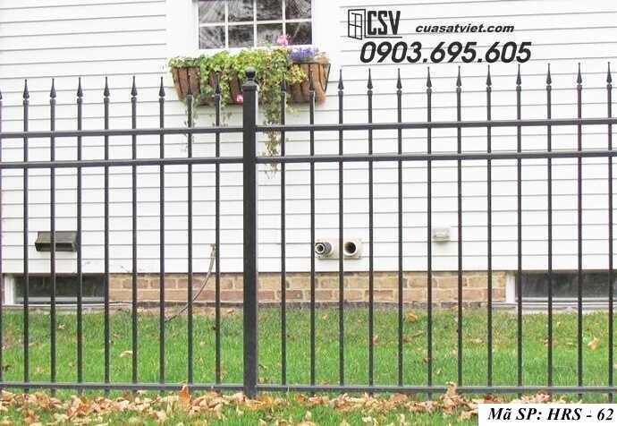 Mẫu hàng rào sắt đẹp HRS 62