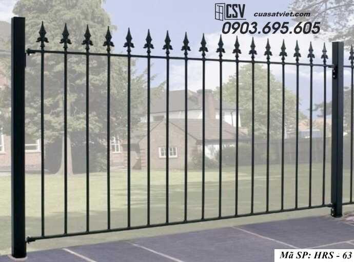 Mẫu hàng rào sắt đẹp HRS 63