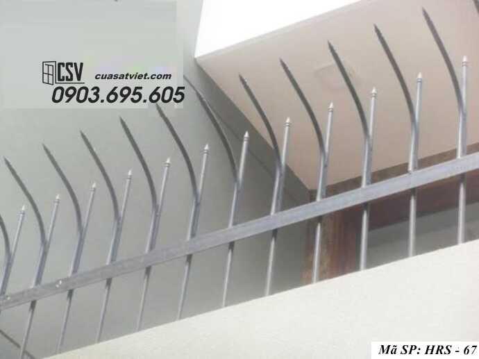 Mẫu hàng rào sắt đẹp HRS 67