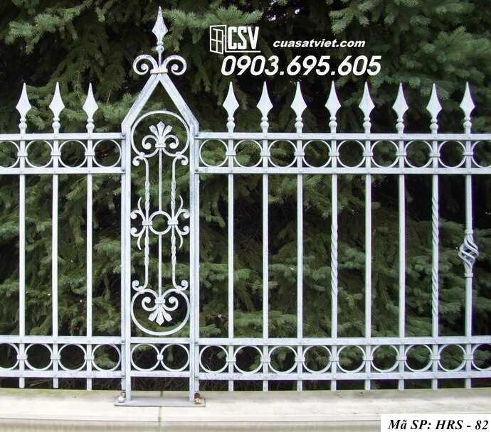 Mẫu hàng rào sắt đẹp HRS 82