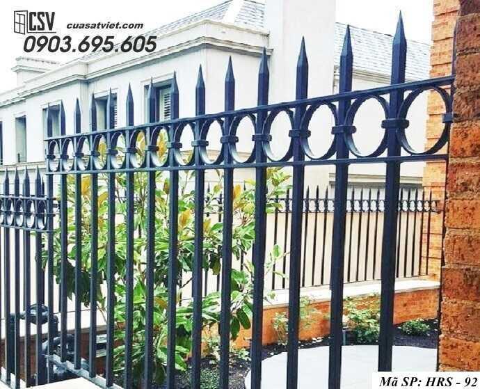 Mẫu hàng rào sắt đẹp HRS 92