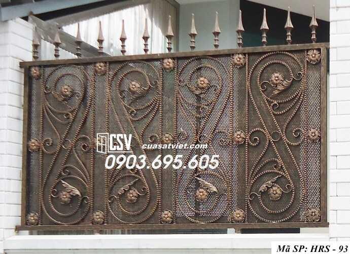 Mẫu hàng rào sắt đẹp HRS 93