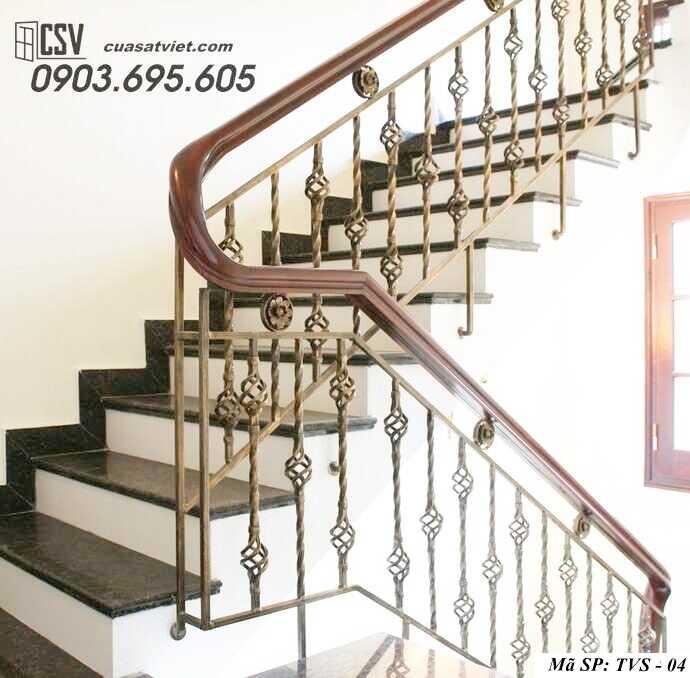 Mẫu tay vịn cầu thang đep TVS 04
