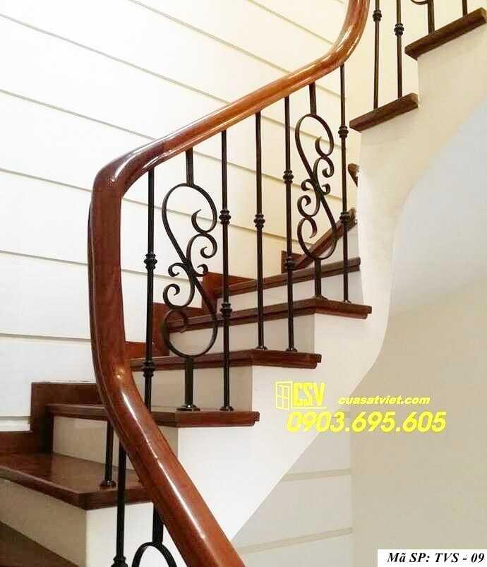 Mẫu tay vịn cầu thang đep TVS 09