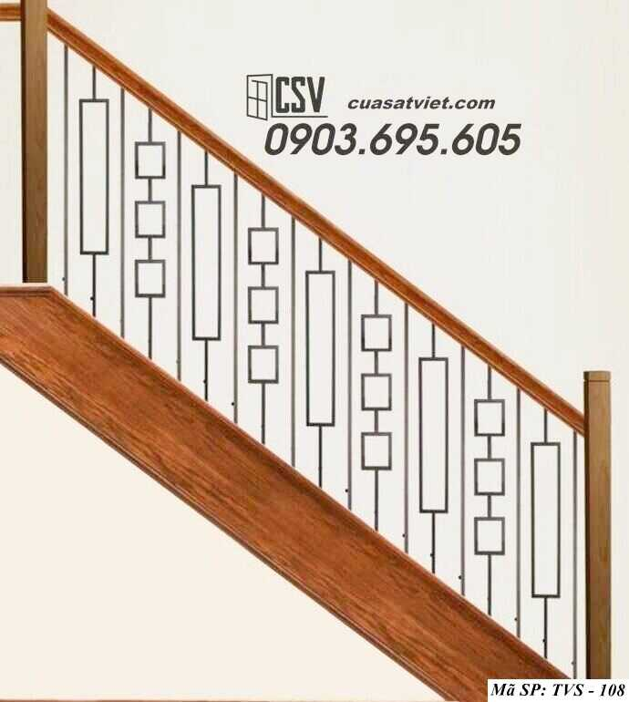 Mẫu tay vịn cầu thang đep TVS 108