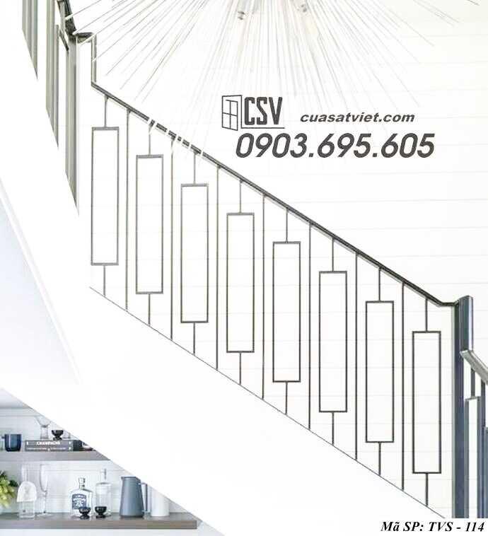 Mẫu tay vịn cầu thang đep TVS 114