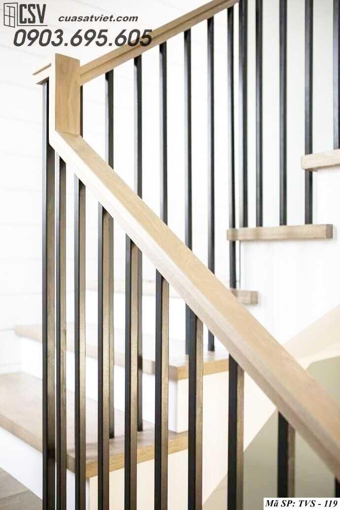 Mẫu tay vịn cầu thang đep TVS 119