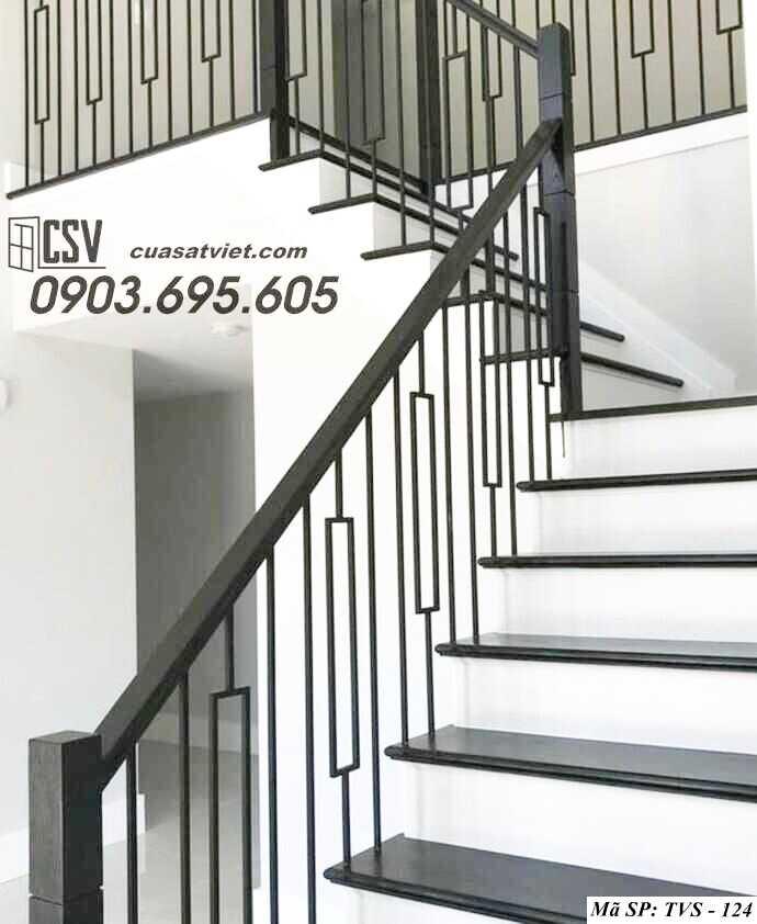 Mẫu tay vịn cầu thang đep TVS 124