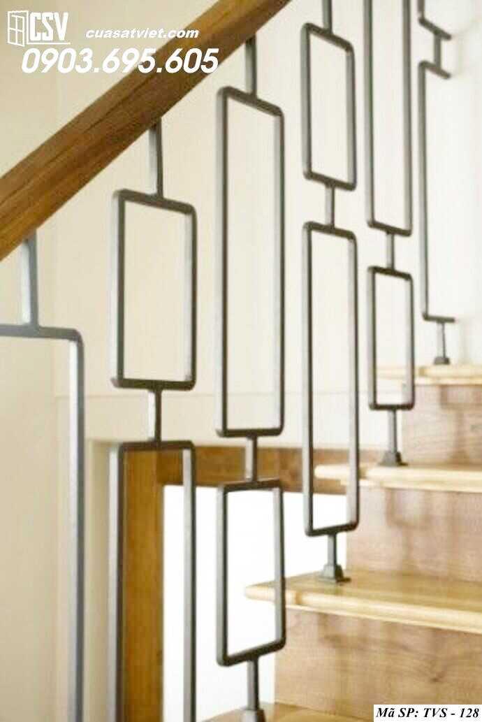 Mẫu tay vịn cầu thang đep TVS 128