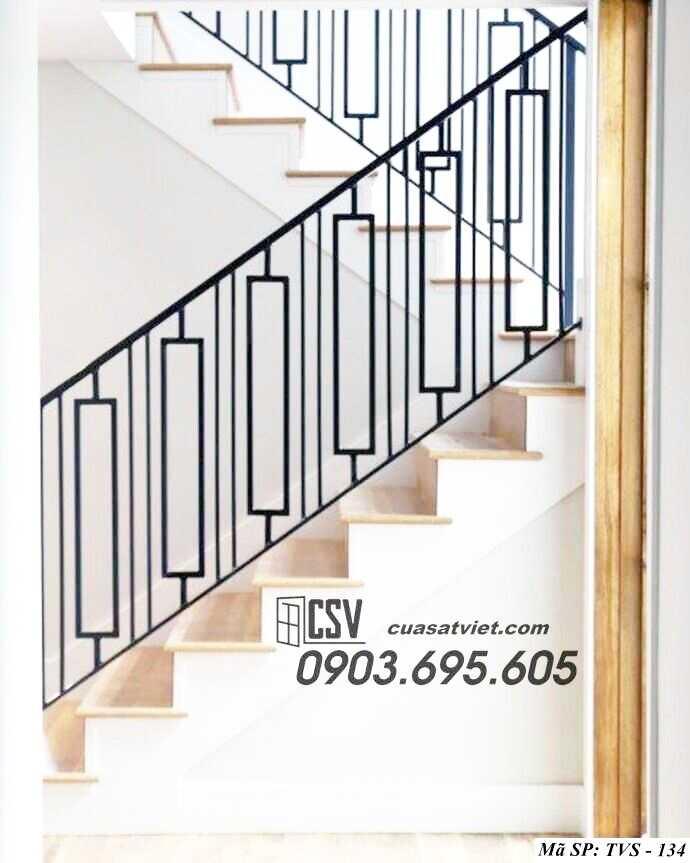 Mẫu tay vịn cầu thang đep TVS 134