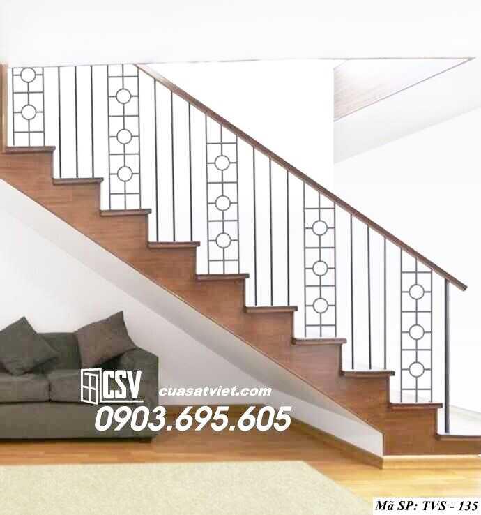 Mẫu tay vịn cầu thang đep TVS 135
