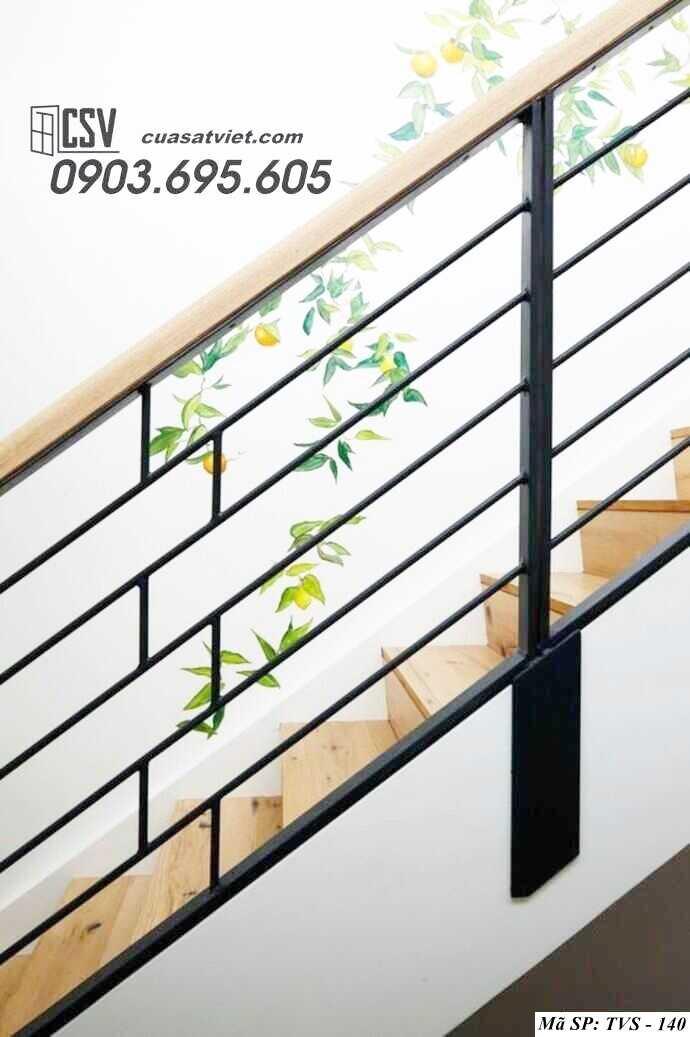 Mẫu lan can cầu thang sắt đẹp TVS 140
