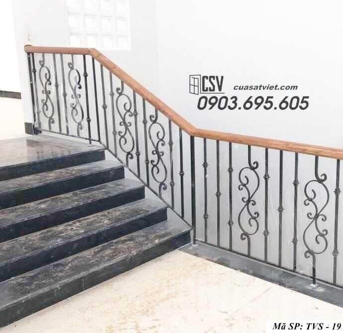 Mẫu tay vịn cầu thang đep TVS 19