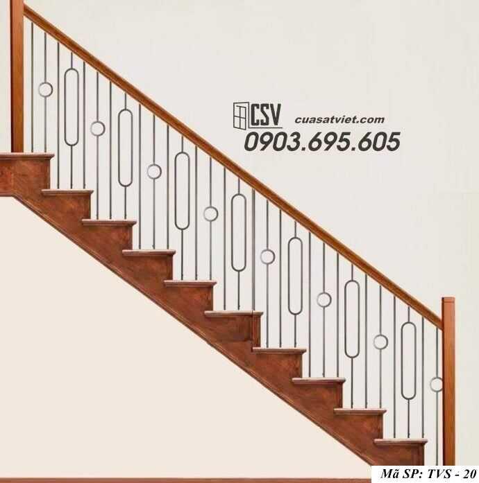Mẫu tay vịn cầu thang đep TVS 20