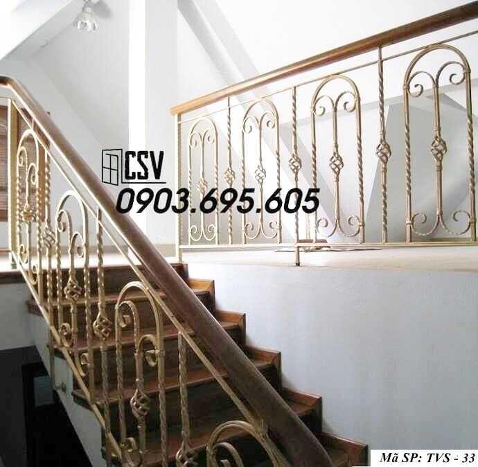 Mẫu tay vịn cầu thang đep TVS 33