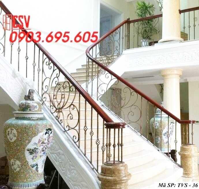 Mẫu tay vịn cầu thang đep TVS 36