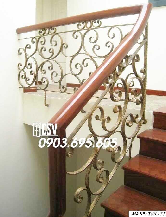 Mẫu tay vịn cầu thang đep TVS 37