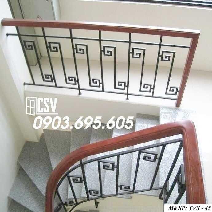 Mẫu tay vịn cầu thang đep TVS 45