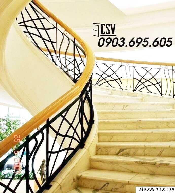 Mẫu tay vịn cầu thang đep TVS 50