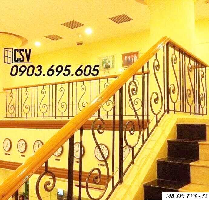 Mẫu tay vịn cầu thang đep TVS 53