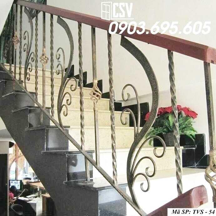 Mẫu tay vịn cầu thang đep TVS 54