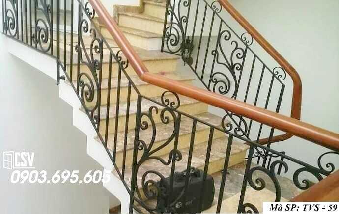 Mẫu tay vịn cầu thang đep TVS 59