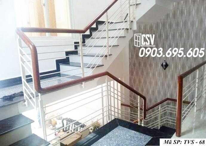 Mẫu lan can cầu thang sắt đẹp TVS 68