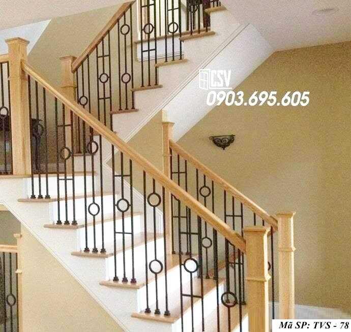 Mẫu tay vịn cầu thang đep TVS 78