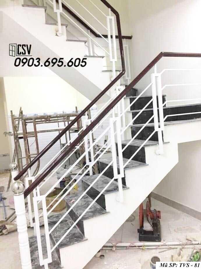 Mẫu tay vịn cầu thang đep TVS 81