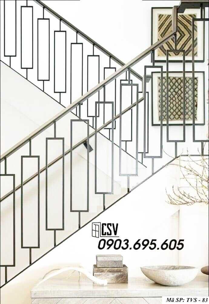 Mẫu tay vịn cầu thang đep TVS 83