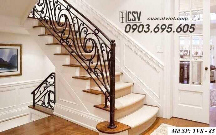 Mẫu tay vịn cầu thang đep TVS 85