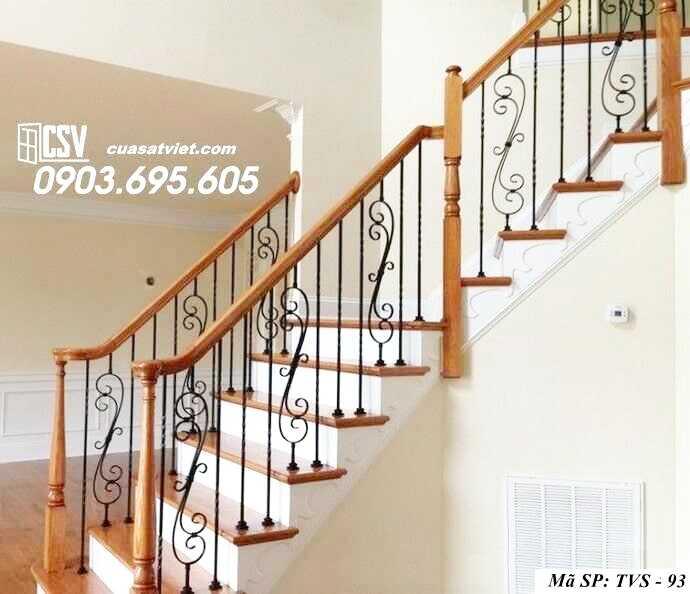 Mẫu tay vịn cầu thang đep TVS 93