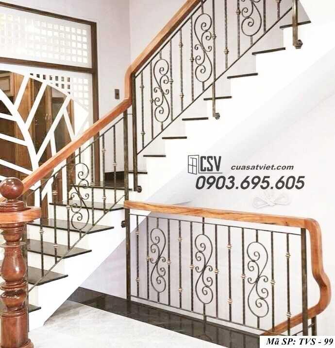 Mẫu tay vịn cầu thang đep TVS 99